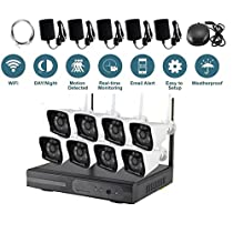 VOYAGEA 8CH 1280960P HD NVR Wireless Home No HDD Surveillance Security Camera System 8 Channel 960P Wifi NVR CCTV Surveillance Systems CamerasA36