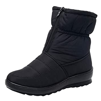 Women's Ladies Winter Waterproof Thermal Martin Short Thickened Snow Boots Footwear Warm Shoes by Dreamyth Shoes