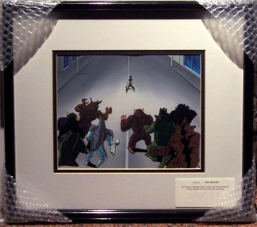 Guyver Original Production Cel and Matching Watercolor Background - Key Scene from the Anime Classic - Guyver
