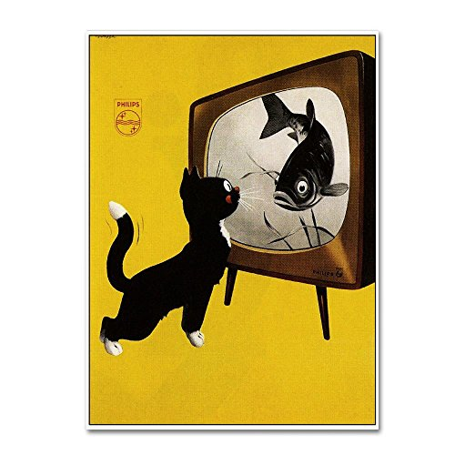 Ads 115 by Vintage Lavoie, 14x19-Inch Canvas Wall Art