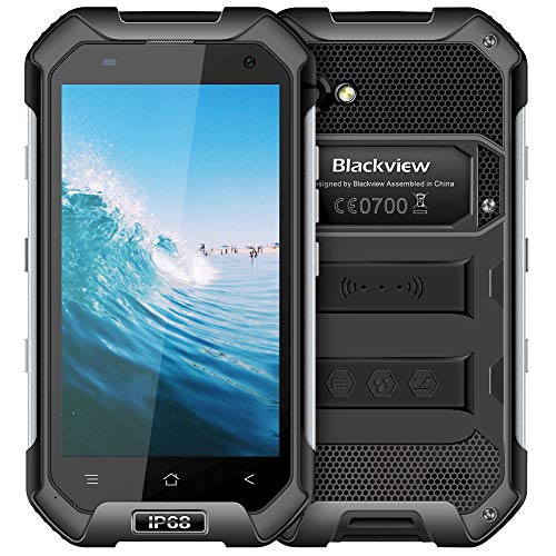 "Blackview BV6000S Smart Phone Rugged Unlocked 4G LTE IP68 Waterproof Dropproof Outdoor Cell Phone Android 7.0, Dual Rear Camera, 4.7"" Full HD, Dual SIM, 4500mAh Large Battery for AT&T T-Mobile"