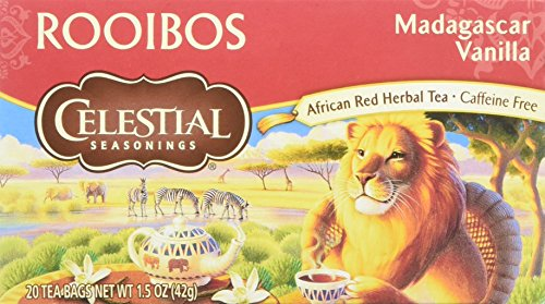 Celestial Seasonings Madagascar Vanilla Rooibos African Red Herbal Tea, 20 (Red African Herbal Tea)