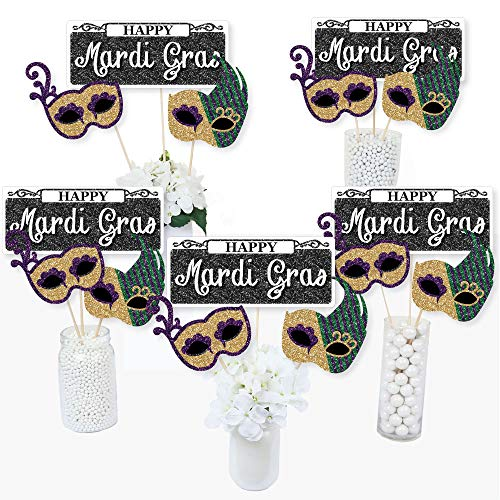 Mardi Gras - Masquerade Party Centerpiece Sticks - Table Toppers - Set of 15]()
