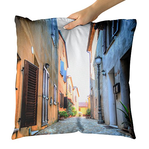 Cheap  Westlake Art Decorative Throw Pillow - Alley Town - Photography Home Decor..