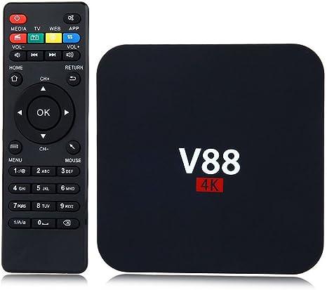 V88 Android 7.1 Smart TV Box RK3229 4K Quad Core 8G WiFi H.265 3D Media Player
