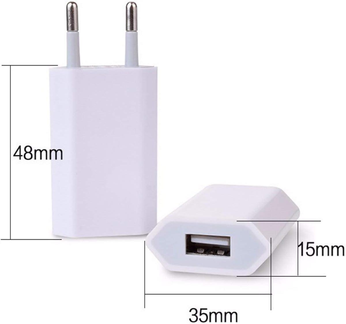 Leoboone Chargeur Mural USB Adaptateur Chargeur Chargeur 5V 1A Port USB Simple Chargeur Cube de Prise Chargeur Rapide pour iPhone 7 6S Plus 6 Plus 6S
