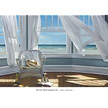 Gentle Reader by Karen Hollingsworth Coastal Beaches Chairs Ocean Print Poster