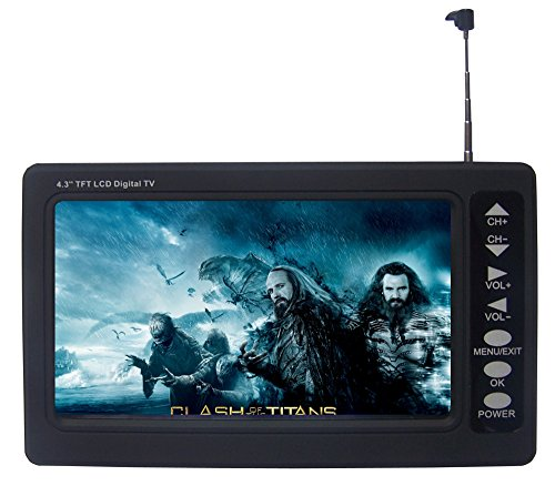 [NEW VERSION] Chaowei DTV530 Portable 4.3'' Digital TV with ASTC Tuner,TFT LCD and Magnetic Base Antenna - Black by Chaowei