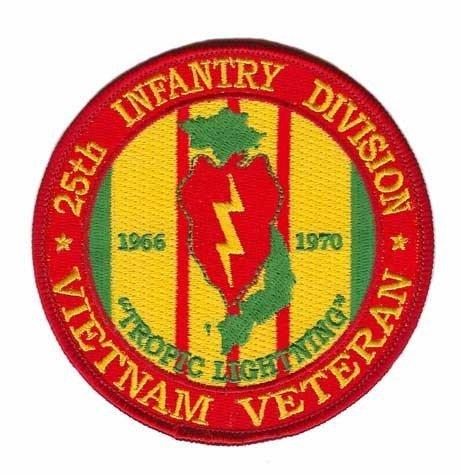 - 25th Infantry Division Vietnam Veteran Patch