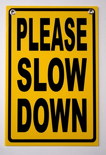 1Pc Brilliant Unique Please Slow Down Security Signs Outdoor Warning Surveillance Children Safety Under Cameras Protected Home Premises Hour Yard Hanger Fence Property Size 12
