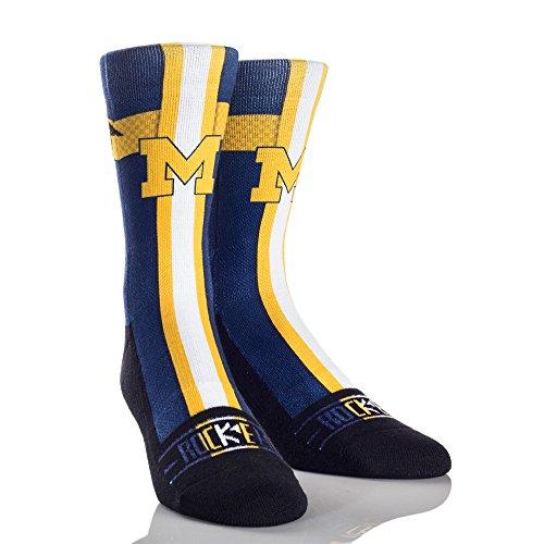 NCAA Michigan Wolverines Jersey Series University Custom Athletic Crew Socks, Small/Medium, Blue - Ncaa Michigan Wolverines Jersey