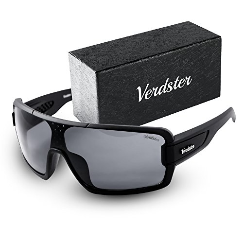 Verdster Casual Trendy Sunglasses For Men And Women, Accessories Case, Black Terminator - Country Cross Sunglasses