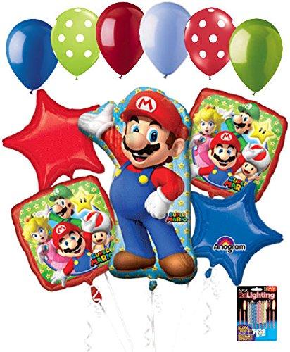 11 pc Super Mario Brothers Balloon Bouquet Party Decoration Nintendo (Nintendo Decorations)