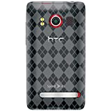 Amzer Luxe Argyle Skin Case for HTC EVO 4G - Smoke Gray