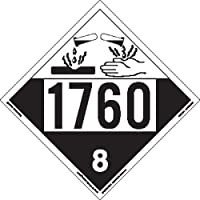 Labelmaster ZT4-1760 UN 1760 Corrosive Hazmat Placard, Tagboard (Pack of 25)