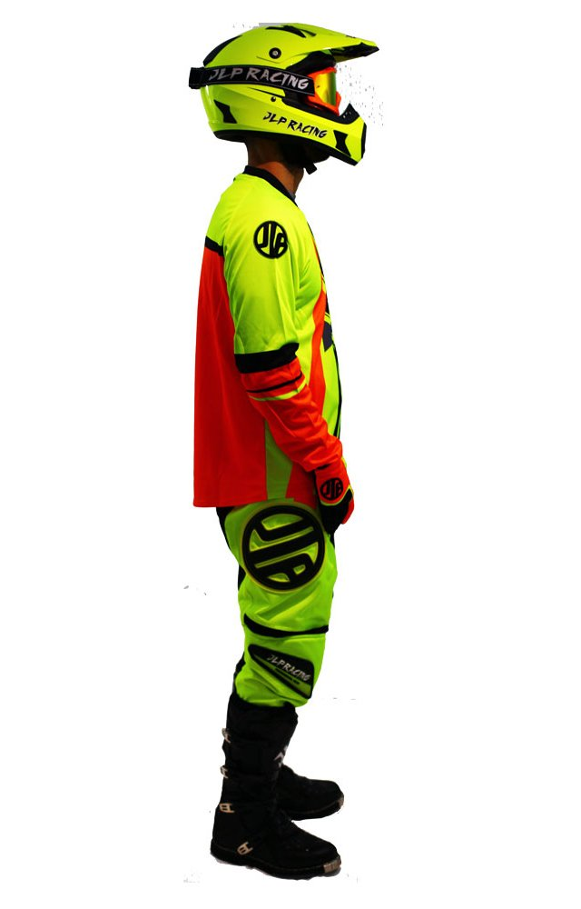 Tenue Enfant 10-12 Ans Moto Cross Quad VTT BMX MTB Pantalon Gants Maillot Fluo Jaune Orange JLP RACING Taille 26 US//XL