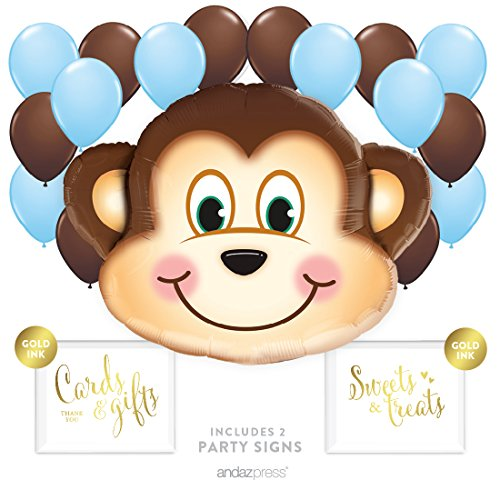 andaz-press-balloon-party-kit-with-signs-boy-baby-shower-monkey-with-baby-blue-and-brown-balloons-ha