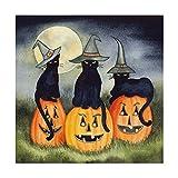 Trademark Fine Art Haunting Halloween Night II No Border by Kathleen Parr McKenna, 35x35