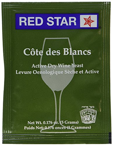 Red Star Cote des Blancs Wine Yeast, 5 Gram - 10-Pack (Best Sweet White Wine)