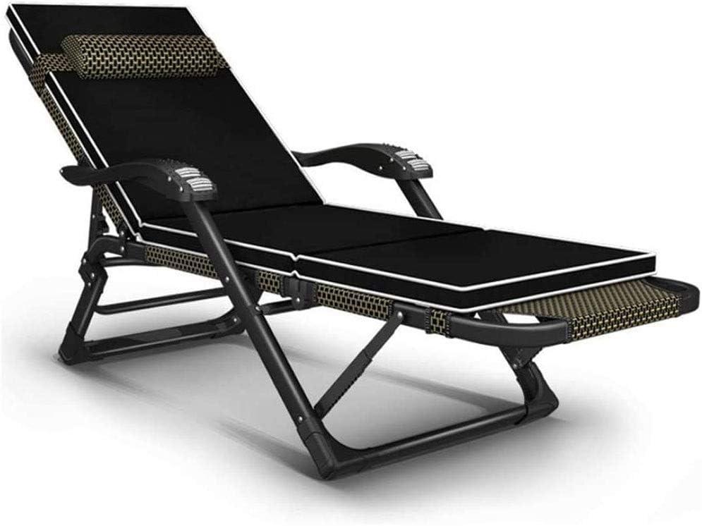 LQRYJDZ Plegable Tumbona, divanes sillas de ruedas jardín al aire libre de descanso de la cubierta plegable chairsRemovable apoyo for la cabeza, a prueba de herrumbre de aluminio, transpirable, cómodo