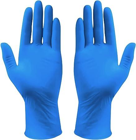 Blue Powder free and Latex free 100 pcs Nitrile Gloves Free Shipping. Large
