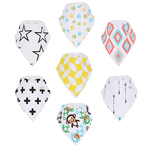 CMCMU Baby Bibs Bandana Bib for Drooling and Teething Kids 7 Pack (Baby Jack Jack From The Incredibles)