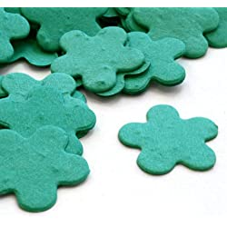 Teal 5-Petal Plantable Seed Confetti (two 350 piece bags = 700pcs)