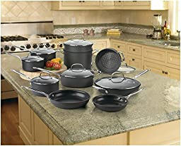 Cuisinart 66-17 Chef\'s Classic Nonstick Hard-Anodized 17-Piece Cookware Set DISCONTINUED BY MANUFACTURER