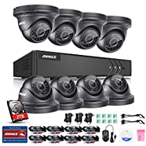 ANNKE 8CH H.264+ and 1080P Lite HD TVI Security DVR System w/ 8 960P 1.3MP Weatherproof Indoor/Outdoor CCTV Cameras, Super Day Night Vision, One 2TB HDD
