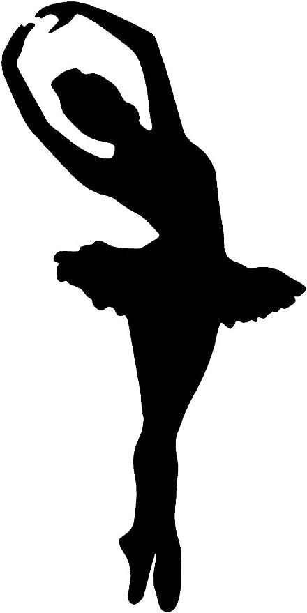 Amazon Com Sassy Stickers Ballet Dancer Ballerina Girl White Sticker Decal Arts Crafts Sewing