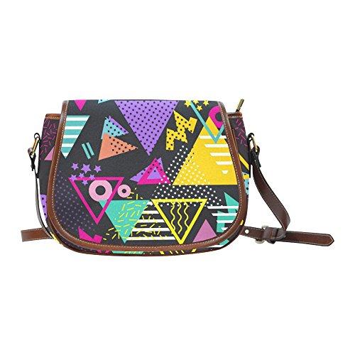 80s Triangles Art Saddles Bag