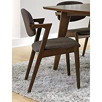 Malone Dining Side Chairs Grey and Dark Walnut Set of 2