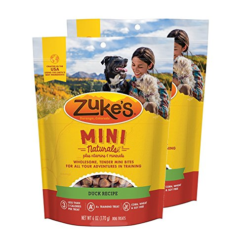 Zuke s Mini Naturals Dog Treats Duck Recipe 6 oz 2 Pack