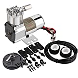 Auto Tuning Air Suspension Compressor For Heavy Duty Hard Mount Air Train Horn Compressor 120PSI High Pressure Air Pump Oil-Free Stainless