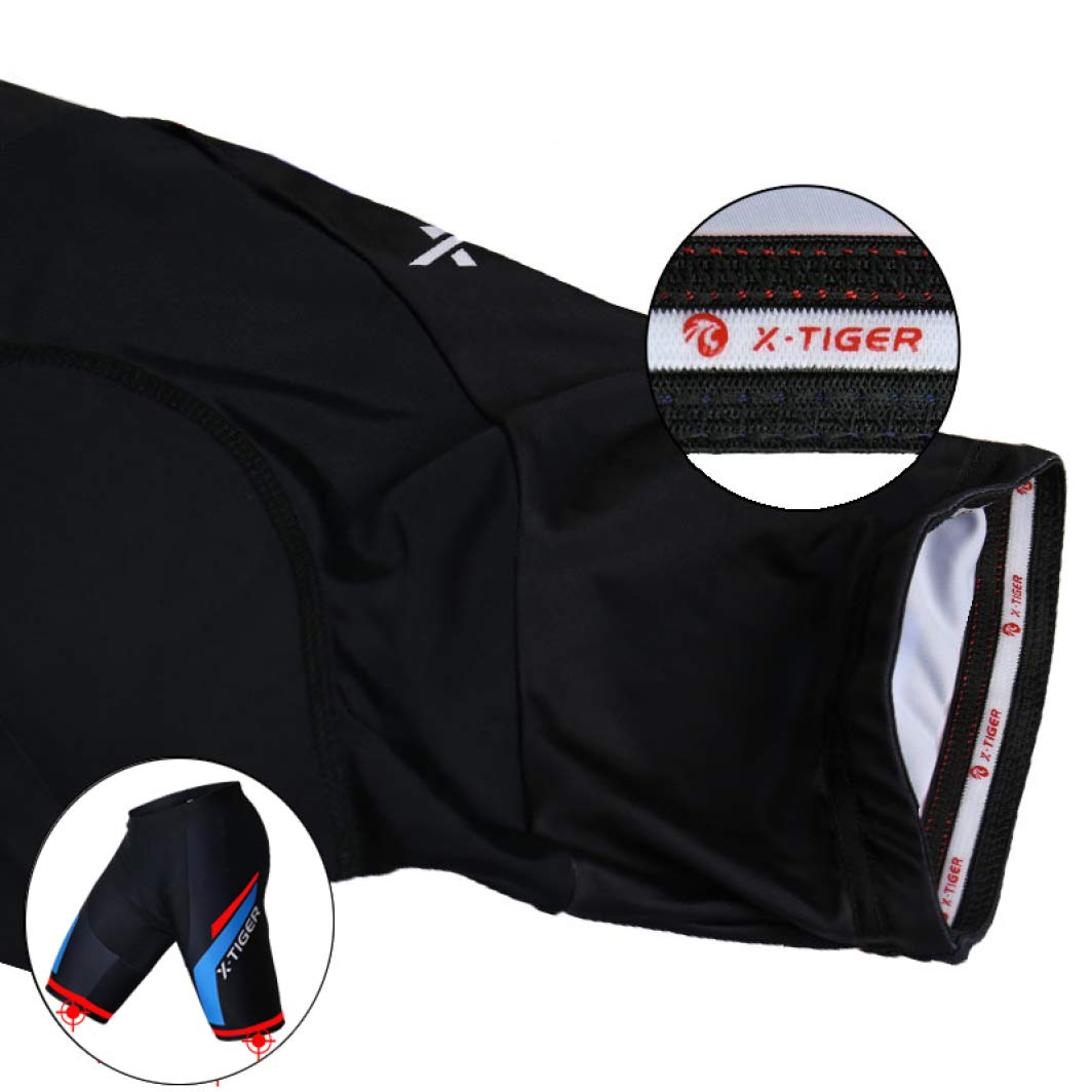 NAWING Mens 5D Padded Cycling Shorts Shockproof Breathable MTB Mountain Bicycle Bike Short Cycle Tights