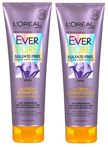 Blonde Volume Shampoo (L'Oreal Hair Expert / Paris - EverPure Blonde - With Iris - Shampoo & Conditioner Set - 8.5 FL OZ (250 mL) Per Tube - One Set)