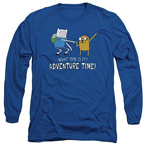 larga Time manga Fist Blue Royal hombre para de Camiseta Bump Adventure IpndOwqUO