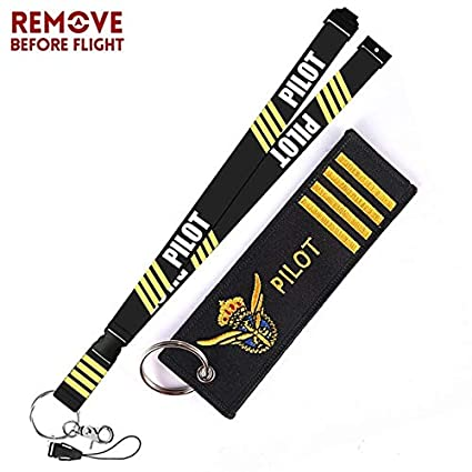 Key Rings Remove Before Flight Aviation Gifts Lanyard Keychain Turbo Keychain Crew Neck Strap Pilot Lanyard