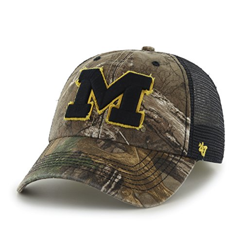 NCAA Michigan Wolverines '47 Huntsman Closer Camo Mesh Stretch Fit Hat, One Size, Realtree Camouflage - Michigan Wolverines Camo