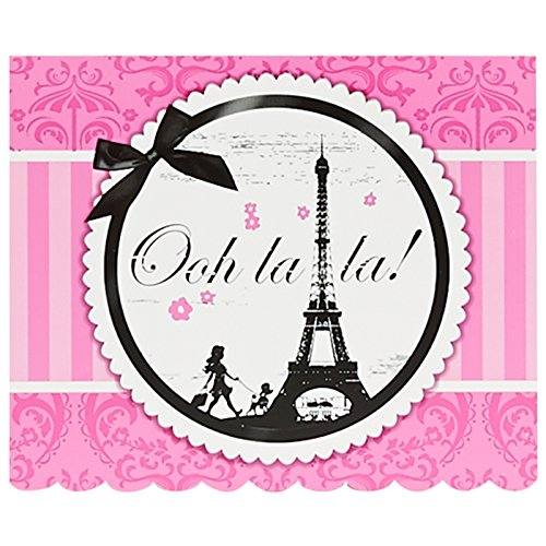 BirthdayExpress Paris Eiffel Tower Damask Party Supplies - Invitations (8)
