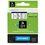DYMO D1 Labels, 3/4-Inch x 23-Foot Roll, Black Print on Clear, Self-Adhesive, For LabelManager Label Makers
