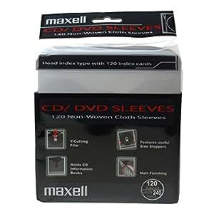 Maxell 303427 303427 - Fundas dobles para CD/DVD (sin perforar,120 unidades), color blanco
