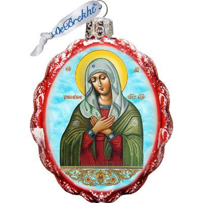 G Debrekht Mother Of God Tenderness Glass Ornament Amazon In Home Kitchen
