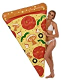 Coconut Float's 6' Pizza Slice Pool Float with Toppings; Inflatable Raft, Pool Floats