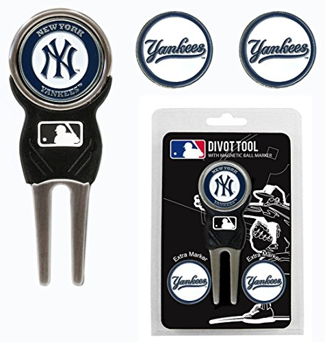 - New York Yankees Golf Divot Tool with 3 Markers