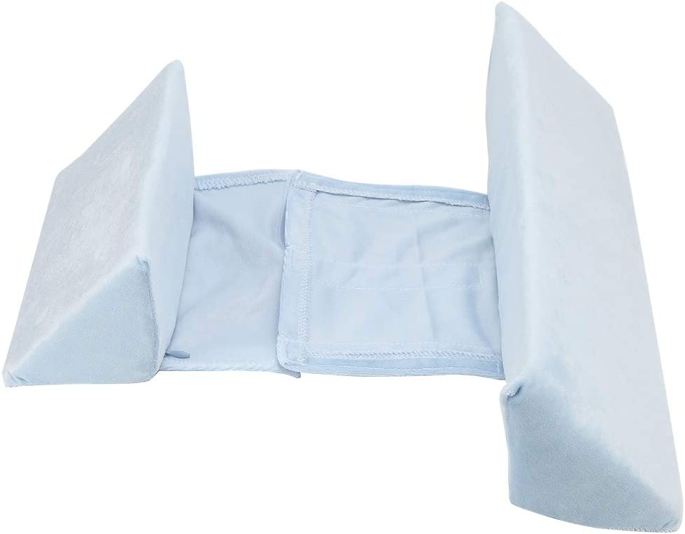 Triangle pillow blue Baby Shaping Styling Pillow for Anti-Spitting Milk Anti-Head Leaning Not Easy to Deform Prevent Rolling Lovely Baby Pillow