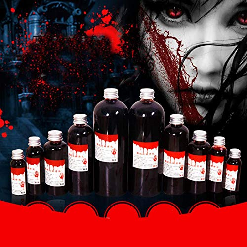 LtrottedJ Halloween Fake Blood Ultra-Realistic Simulation Human Vampire Party Make Up Prop,Artificial Edible Fake Blood Plasma 30ML (A)