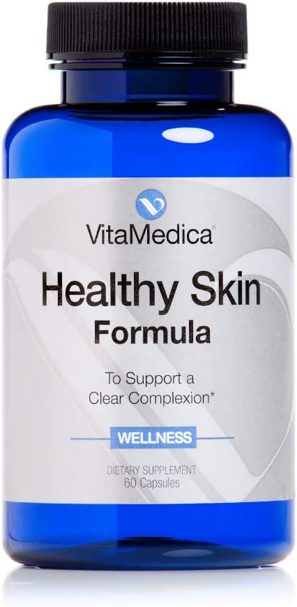 VitaMedica Healthy Skin Vitamin Formula for Acne W/ Vitamins A, C & E Plus Zinc & Cleansing Herbs - 60 Capsules