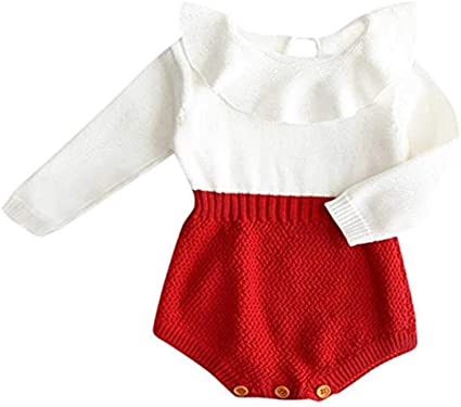 JELLYLA bebé recién Nacido bebé niña Mezcla de Lana bebé enterito ...