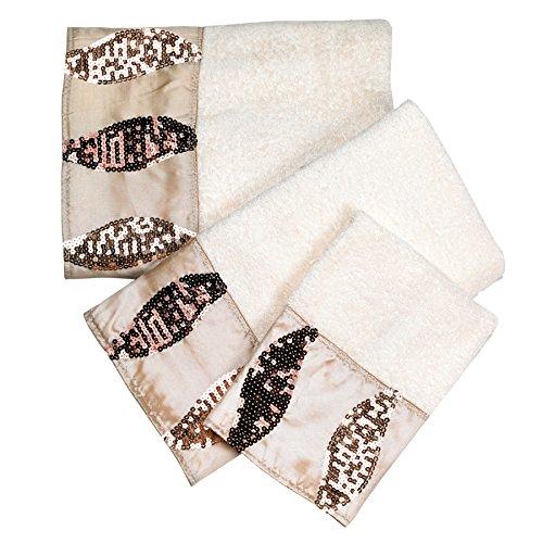 Popular Bath Bath Towels, Shimmer Collection, 3-Piece Set, Gold ()